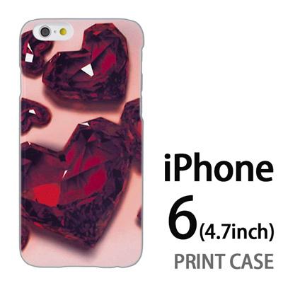 iPhone6 (4.7インチ) 用『0115 ガラスのハートいっぱい 赤』特殊印刷ケース【 iphone6 iphone アイフォン アイフォン6 au docomo softbank Apple ケース プリント カバー スマホケース スマホカバー 】の画像