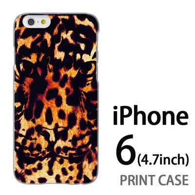 iPhone6 (4.7インチ) 用『No5 豹柄×タイガー』特殊印刷ケース【 iphone6 iphone アイフォン アイフォン6 au docomo softbank Apple ケース プリント カバー スマホケース スマホカバー 】の画像