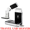 *NEW* Flo Mens Travel Black Usb Rechargeable Shaver / Silver  /  Hair Trimmer / Aircraft Carry on Safe / GILLETTE RAZOR / 2 yrs Warranty / Philips Braun shaver / GIFT Set / SG seller / FREE MAIL