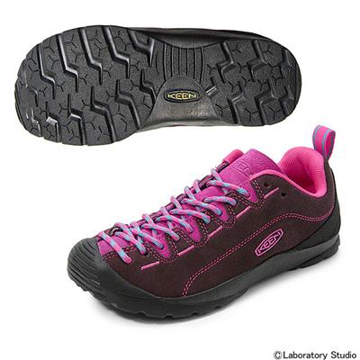 キーン (KEEN) WOMEN JASPER(ウィメンズ ジャスパー)Brown Stone×Beetroot Purple 1012091 [分類:レディースファッション スニーカー ローカット] 送料無料の画像