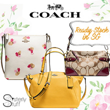 COACH-BAGS AND WALLET - READY STOCK IN SG- SALE-100% AUTHENTIC