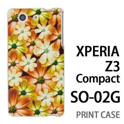 XPERIA Z3 Compact SO-02G 用『No4 マーブルフラワー』特殊印刷ケース【 xperia z3 compact so-02g so02g SO02G xperiaz3 エクスペリア エクスペリアz3 コンパクト docomo ケース プリント カバー スマホケース スマホカバー】の画像