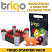 [Made in Holland] Triqo Learning Toy Starter Pack Mix (30 x triangle / 20 x square) Made from Strong and Flexible Plastic | Suitable for Children 5 and older [Used in Maths lessons in Australia]