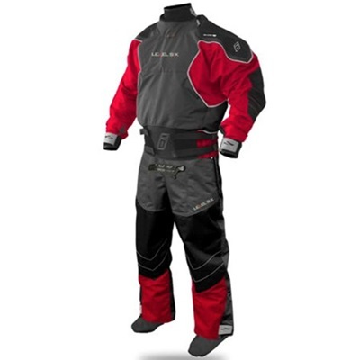 レベルシックス(LEVEL SIX) Emperor 3 Ply Dry Suit Bright Red/Charcoal M LS13A000000152 【カヌー カヤック ダブルウェスト ドライスーツ】の画像