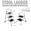 Stool Step Foldable Ladder.Come in 2/3 Stepsfitted with anti-slip pad on each steps.Easy and Compact