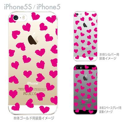 【iPhone5S】【iPhone5】【iPhone5sケース】【iPhone5ケース】【カバー】【スマホケース】【クリアケース】【クリアーアーツ】【ハート】 22-ip5s-ca0019の画像