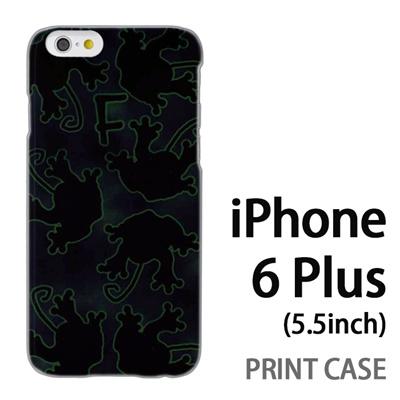 iPhone6 Plus (5.5インチ) 用『No1 F カエルの影』特殊印刷ケース【 iphone6 plus iphone アイフォン アイフォン6 プラス au docomo softbank Apple ケース プリント カバー スマホケース スマホカバー 】の画像