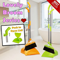 ★BROOM SERIES★ Colourful Broom and Dustpan ★ Durable and High Quality ★ Hook Anywhere ★ Many Colours ★ [JIJI]
