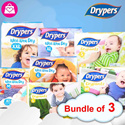 ★CARTON SALE★【DRYPERS】(3packs) WEE WEE DRY ★ DRY PANTZ ★ tape/pants ★ NB/S/M/L/XL/XXL available