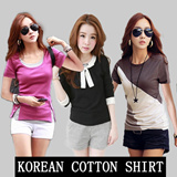 FAST SHIPPING * Plus Size S-3XL Korean cotton T-shirt in the Great Singapore Sale