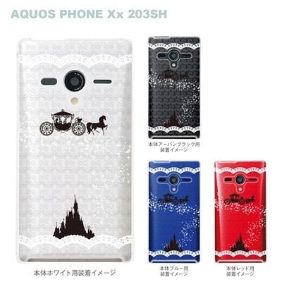 【AQUOS PHONEケース】【203SH】【Soft Bank】【カバー】【スマホケース】【クリアケース】【クリアーアーツ】【シンデレラA】 08-203sh-ca0093aの画像