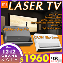 $120 COUPON DISCOUNT❤ XIAOMI WEMAX TV Laser projector short throw 4k android from up to 150 inch