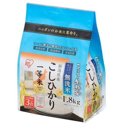 生鮮米 無洗米 新潟県産 こしひかり 1.8kg 手軽に炊ける無洗米♪☆一等米100%使用!の画像