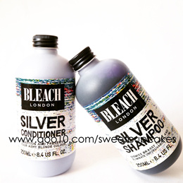 BLEACH LONDON Silver And Rose Shampoo And Conditioner! Use To Tone Down Your Bleached Hair!