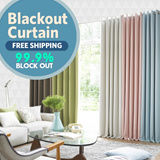 [Prielle] BLACKOUT CURTAINS 99.9% BLOCK OUT 2Sheets [Free Shipping]