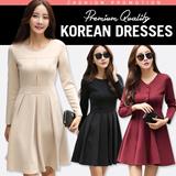 2015 European high-quality fashion Sleeveless vest skirt long-sleeved dress