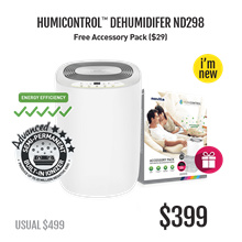 novita Singapore Dehumidifier ND298 + FOC HumiControl™ Accessory Pack