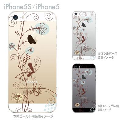 【iPhone5S】【iPhone5】【iPhone5sケース】【iPhone5ケース】【クリア カバー】【iPhone ケース】【スマホケース】【クリアケース】【ハードケース】【着せ替え】【イラスト】【フラワー】【花と蝶】 22-ip5s-ca0028の画像