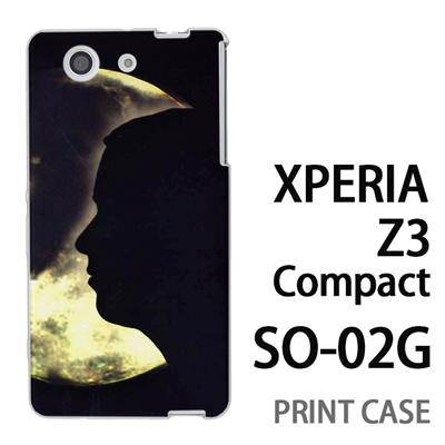 XPERIA Z3 Compact SO-02G 用『No4 月と女』特殊印刷ケース【 xperia z3 compact so-02g so02g SO02G xperiaz3 エクスペリア エクスペリアz3 コンパクト docomo ケース プリント カバー スマホケース スマホカバー】の画像