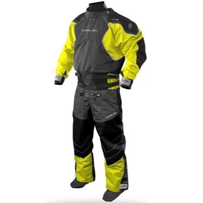 レベルシックス(LEVEL SIX) Emperor 3 Ply Dry Suit Bright Yellow/Charcoal S LS13A000000155 【カヌー カヤック ダブルウェスト ドライスーツ】の画像