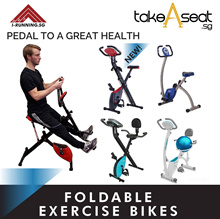 Foldable Stationary Exercise Bike / Home Gym Bicycle / Cycle Indoor With Heartrate