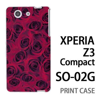 XPERIA Z3 Compact SO-02G 用『0111 一面の薔薇 赤』特殊印刷ケース【 xperia z3 compact so-02g so02g SO02G xperiaz3 エクスペリア エクスペリアz3 コンパクト docomo ケース プリント カバー スマホケース スマホカバー】の画像