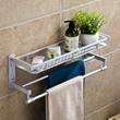Wall-mounted Aluminium Towel Rack Toiletries Shelf Bathroom Washroom Shower Rack Toilet Rack Multipurpose Organizer