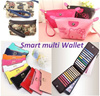 Korea style designer Wallets/Men Card wallet/Wristlet/Smart multi wallet/cosmetic bag/Purse/card holder/handbag/Ladies wallets/Long wallet/Clutch bag/Small shoulder bag