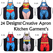 24 Designs! Creative Superman Batman Iron Man Spiderman Sexy Novelty Apron Marvel Avenger