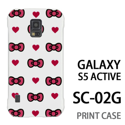 GALAXY S5 Active SC-02G 用『0626 ピンクリボンドット』特殊印刷ケース【 galaxy s5 active SC-02G sc02g SC02G galaxys5 ギャラクシー ギャラクシーs5 アクティブ docomo ケース プリント カバー スマホケース スマホカバー】の画像