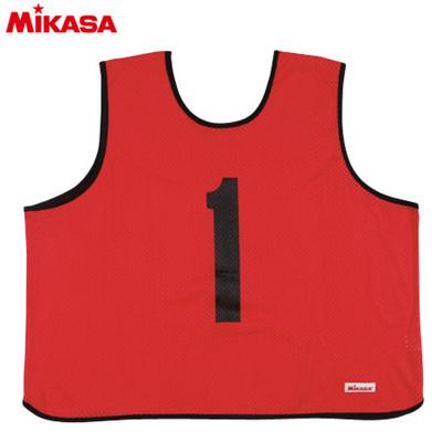 MIKASA(ミカサ) ゲームジャケット ラージサイズ (1~15番) GJL2-R 【ビブス ゲームベスト 試合 練習用品】の画像