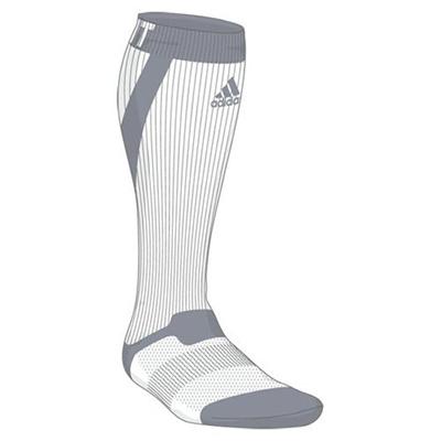 アディダス(adidas) techfit ハイソックス ITW42 S03329 WHT/LGRY 【ウエア ソックス 靴下】の画像