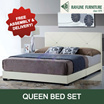 [RayLine Trading] Singapore Furniture | Bed Set | Queen Size | 10 Inch Spring Mattress | BEST PRICE GUARANTEE!! | DELIVERY AND INSTALLATION PROVIDED! |