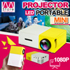 Lasted Model!!! YG3OO Mini Projector/3D HD Movie Theater/Portable/Home Entertainment/1080 HD/Radiationless/Long Service Life/Support 23 Languages/Portable battery Charging【M18】