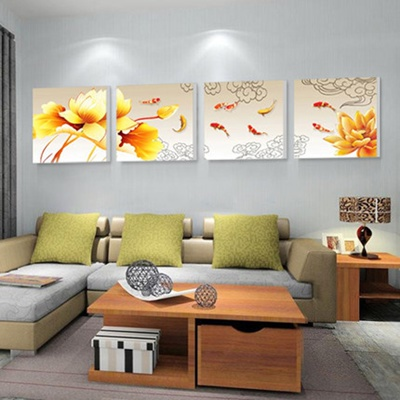 image feng shui living room paint. nine fish feng shui painting triptych frameless living room dining image paint n