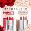 [$7.90 TODAY!!] U.P. $21.90 Maybelline BOLD MATTE/StripNude / L'Oréal Paris Exclusive Delicated Rose