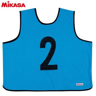 MIKASA(ミカサ) ゲームジャケット ラージサイズ (1~15番) GJL2-B 【ビブス ゲームベスト 試合 練習用品】の画像