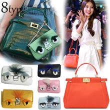 Full Grain Cowhide Handbag/peekab00/Korea style designer handbag/handbags/hand bags/Clutch bags/Shoulder bag/Tote BAG/Fashion bag/ladies handbags/Handbags for women/Premium quality/SG seller/bra
