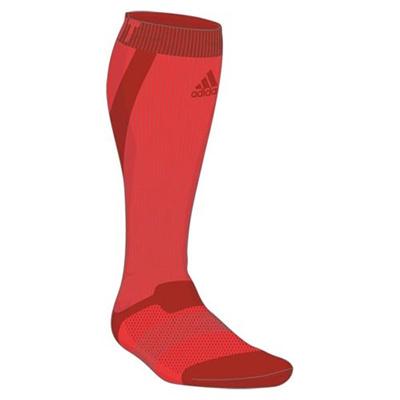 アディダス(adidas) techfit ハイソックス ITW42 S03330 ソーラーRED/トライフ 【ウエア ソックス 靴下】の画像