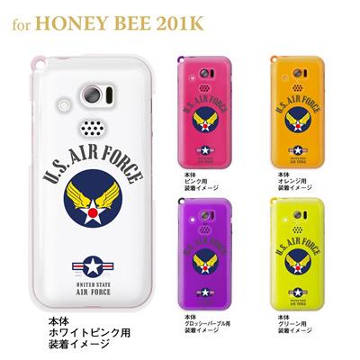 【HONEY BEE ケース】【201K】【Soft Bank】【カバー】【スマホケース】【クリアケース】【U.S.AIR.FORCE】 201k-ca-bs038の画像
