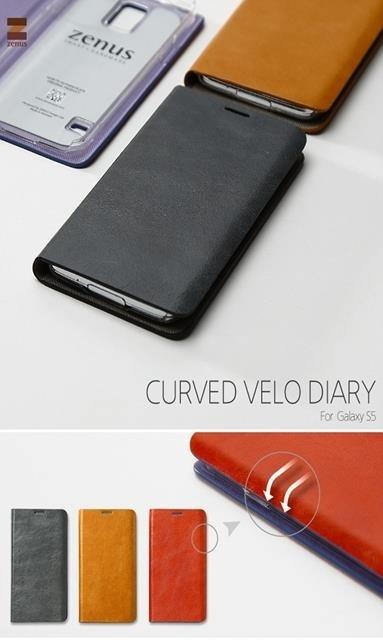 ≪docomo≫ GALAXY S5 SC-04F/≪au≫ GALAXY S5 SCL23スマホケース スマホカバーギャラクシー GALAXY S5 Diary /Zenus Prestige Curved Velo Diaryの画像