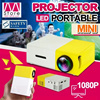 【Local Shipping】Lasted Model!!! YG3OO Mini Projector/3D HD Movie Theater/Portable/Home Entertainment/1080 HD/Radiationless/Long Service Life/Support 23 Languages/Portable battery Charging【M18】