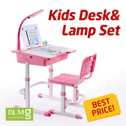[BLMG_SG]★the Lowest Price★Kids Desk Set with Lamp/Kids Table/Study Desk/ Chair