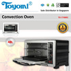 TOYOMI Convection Oven 48.0L [Model: TO-7748RC] - Official TOYOMI Warranty Set. 1 Year Warranty. Sole Distributor In Singapore. BEST PRICE.