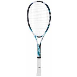 ダンロップ(DUNLOP) スリクソンF 800 ホワイト×ブルー DUN SR11504BL G0 【軟式テニスラケット ソフトテニスラケット 初級者/中級者 張り上げ済み】