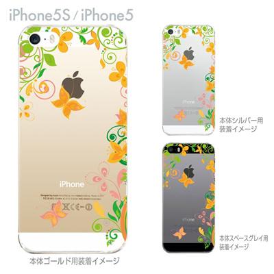 【iPhone5S】【iPhone5】【iPhone5sケース】【iPhone5ケース】【カバー】【スマホケース】【クリアケース】【フラワー】【花と蝶】 22-ip5s-ca0082の画像