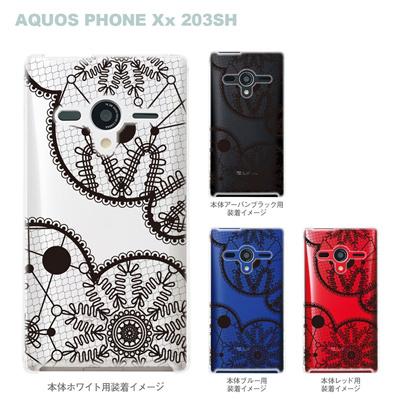 【AQUOS PHONEケース】【203SH】【Soft Bank】【カバー】【スマホケース】【クリアケース】【Clear Fashion】【フラワー】 21-203sh-ca0010bkの画像