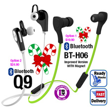 [Bluetooth Wireless Earpiece] No Frills Basic Sport Bluetooth Stereo Wireless Earpiece Headset headphone Earphone For all Bluetooth enable devices SG Seller Fast Delivery[Christmas Gift]