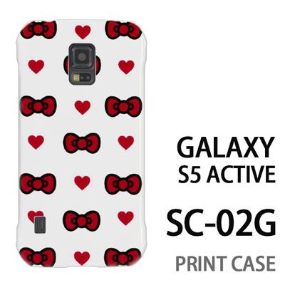 GALAXY S5 Active SC-02G 用『0626 赤リボンドット』特殊印刷ケース【 galaxy s5 active SC-02G sc02g SC02G galaxys5 ギャラクシー ギャラクシーs5 アクティブ docomo ケース プリント カバー スマホケース スマホカバー】の画像