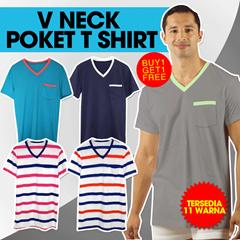 [BUY 1 GET 1]RAMADHAN KNOKDOWNSALE Moving out sale -70% off-Men T-shirts *V neck* POKET T shirt